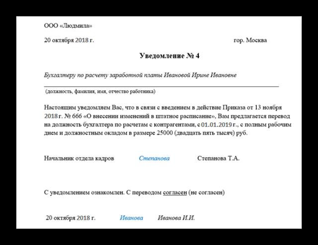Рапорт на перевод — образец в 2020 году