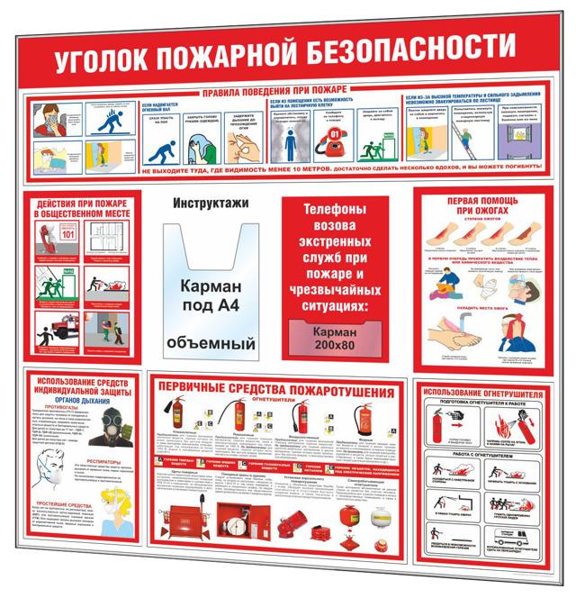 Таблички ответственных за пожарную безопасность в помещении