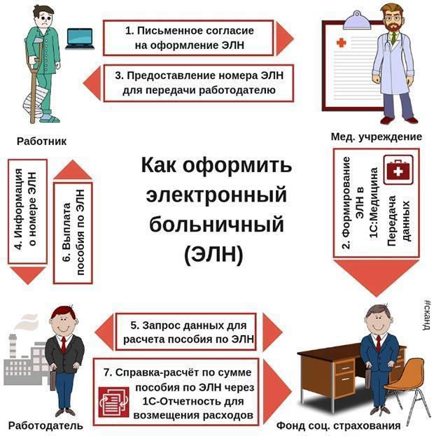 Образец и пример заполнения больничного листа в 2020 году работодателем